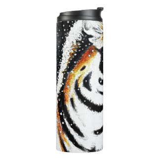 Tiger In The snow noir Thermal Tumbler
