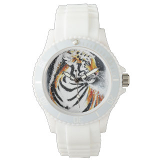 Tiger In The snow noir Watch