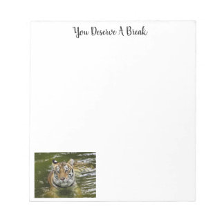 Tiger in the Water Notepad