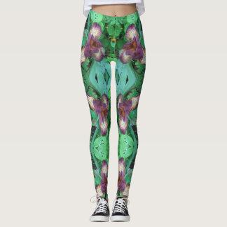 Tiger Iris Skinny Yoga Leggings