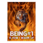 Tiger Jumping Through Flames Print