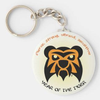 Tiger Key Basic Round Button Key Ring