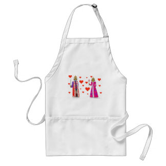 Tiger King and Queen of Hearts Standard Apron