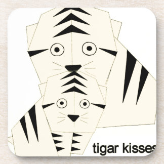 tiger kisses coaster
