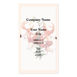 Tiger Lilies Business Cards