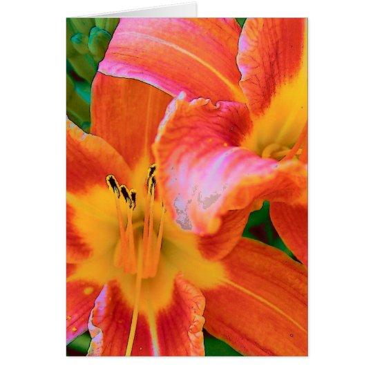 Tiger Lillies Card