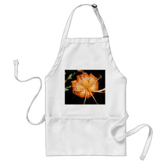Tiger Lilly on Black Background Standard Apron