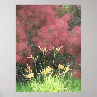 Tiger Lily and Smoke Tree Poster