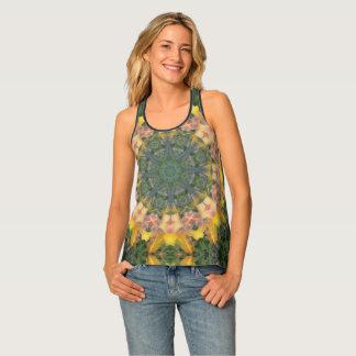 Tiger Lily/Aztec Print Tank Top