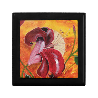 Tiger Lily Moon Small Square Gift Box