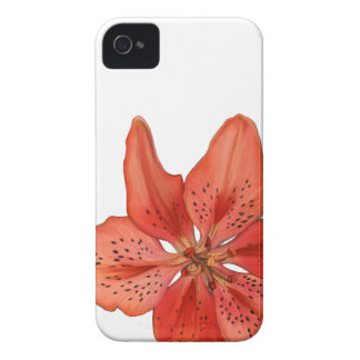 Tiger Lily Painting iPhone 4 Case-Mate Case