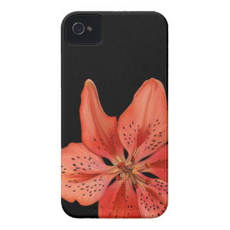 Tiger Lily Painting iPhone 4 Case
