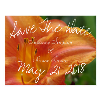 Tiger Lily Save The Date Postcard