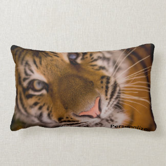 Tiger Lumbar Support Throw Pillow