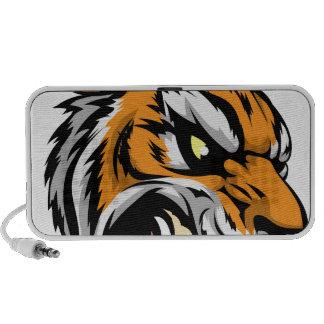 Tiger mascot character travel speaker