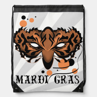 TIGER MASK CARTOON Drawstring Backpack