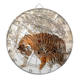 Tiger Mother and baby Dart Boards