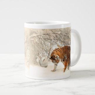 Tiger Mother and Cub Jumbo Mug