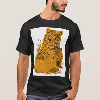 Tiger Mother and Cubs T-Shirt