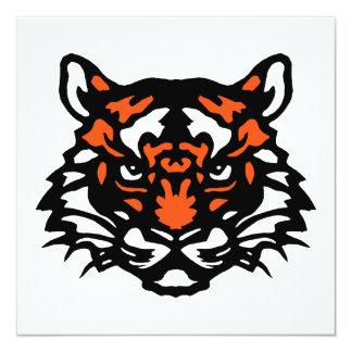 Tiger Note Card 13 Cm X 13 Cm Square Invitation Card