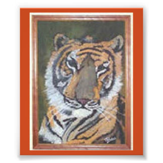 Tiger Oil Painting Print