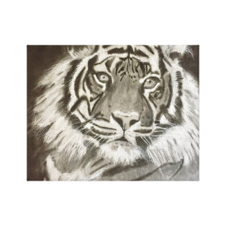 Tiger on canvas