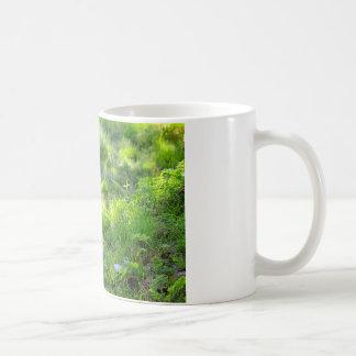Tiger on grass coffee mug