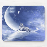 Tiger on the moon mouse pad