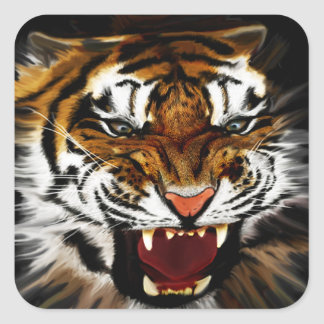 Tiger on the Prowl Stickers