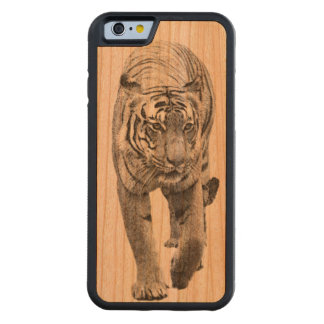 Tiger on the Prowl wood iPhone case! Cherry iPhone 6 Bumper