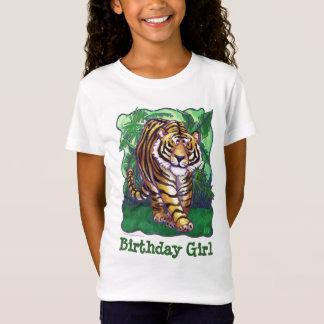 Tiger Party Center Birthday Girl T-Shirt