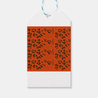 Tiger pattern brown ethno gift tags