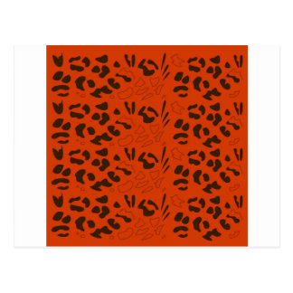 Tiger pattern brown ethno postcard