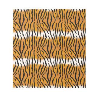 Tiger Pattern Notepad