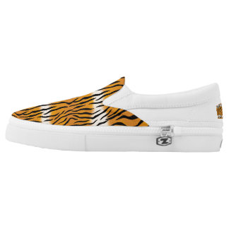 Tiger Pattern Slip-On Shoes