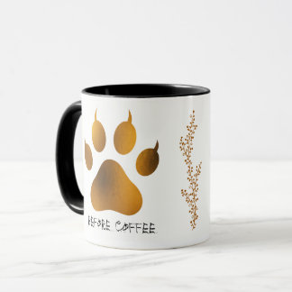 Tiger Paws Before Coffee After Coffee Mug