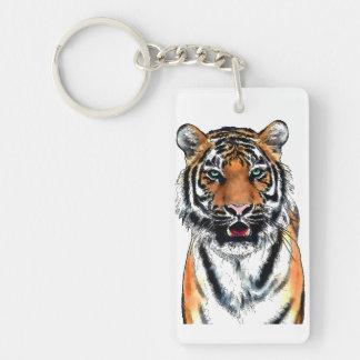 Tiger-pen-ink Key Ring