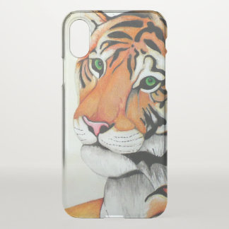 Tiger (Pencil by Kimberly Turnbull Art) iPhone X Case