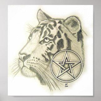 Tiger Pentacle Poster