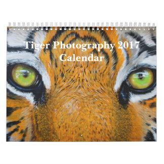 Tiger Photography Wild Animal 2017 Wall Calendar