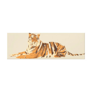 Tiger polygon art illustration canvas print