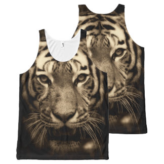 Tiger Portrait King of the Jungle Tank Top