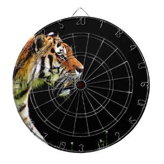 Tiger Predator Fur Beautiful Dangerous Cat Dartboard