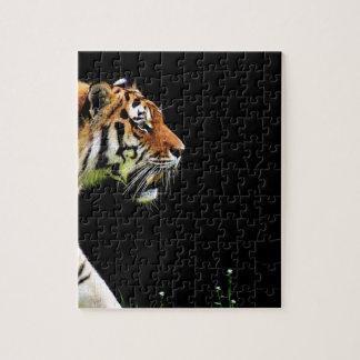 Tiger Predator Fur Beautiful Dangerous Cat Jigsaw Puzzle
