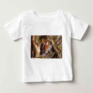 Tiger Predator Lurking Fur Beautiful Dangerous Baby T-Shirt