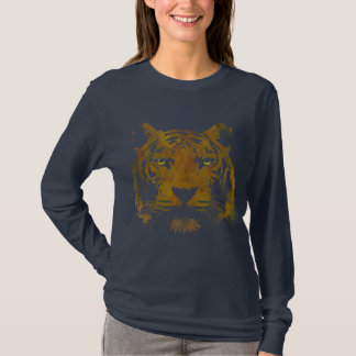 Tiger Print (Dark Shirt) Ladies Basic T-Shirt