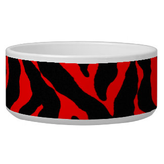 Tiger Print Dog Dish for that wild pet Pet Water Bowls