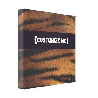 Tiger Print Gallery Wrap Canvas