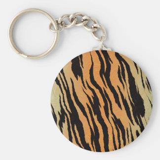 Tiger Print Key Ring