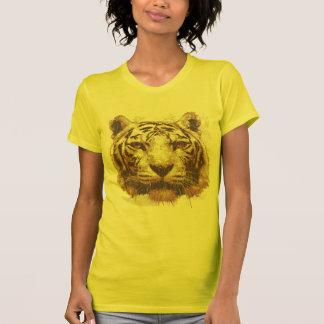 Tiger Print Light Ladies Basic Tshirt